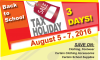 Sales Tax Holiday (Aug. 5-7)