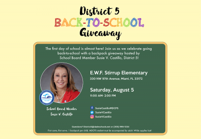 District 5 Back-to-School Giveaway