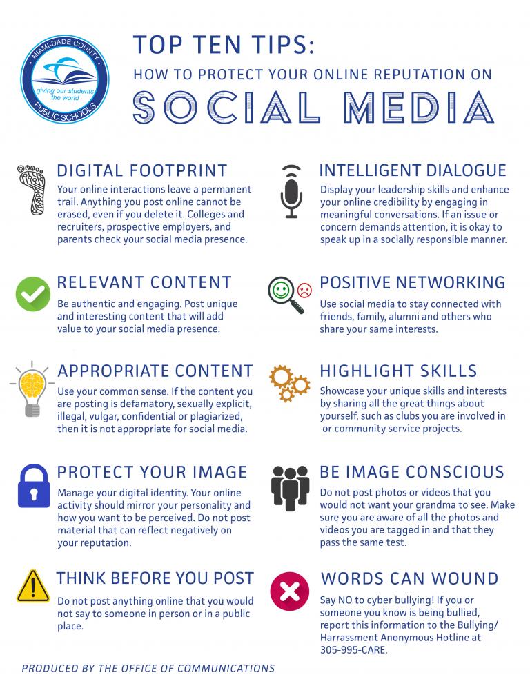 Top Ten Social Media Tips