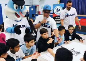 Marlins Visit - No place for hate